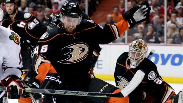 Blackhawks deal Garbutt for Ducks' Sekac