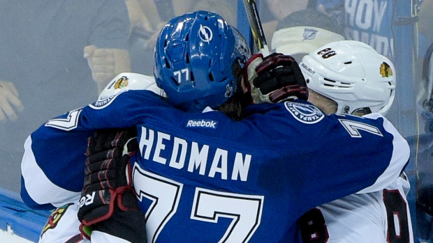 Victor Hedman and Andrew Shaw