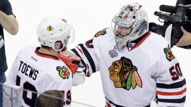 Crawford, Toews celebrate
