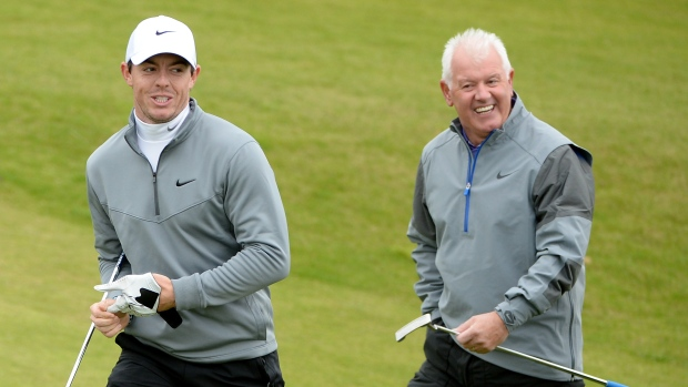 Rory McIlroy and his father, Gerry McIlroy