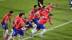Chilean players celebrate