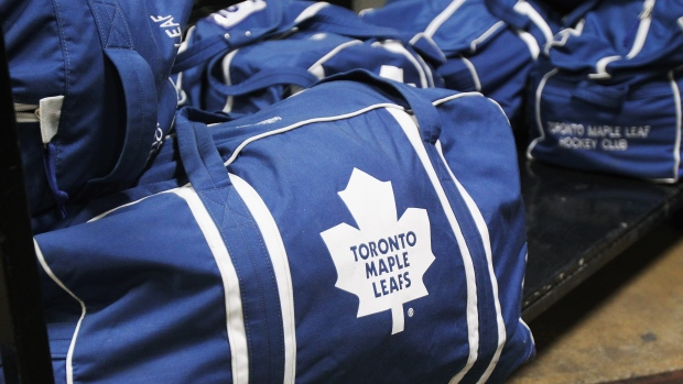 Maple Leafs hockey bags