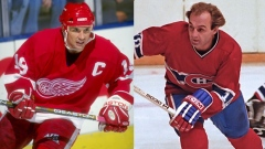 Steve Yzerman and Guy Lafleur