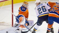 Blues Paul Stastny Oilers Cam Talbot