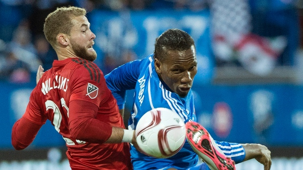 Didier Drogba and Josh Williams