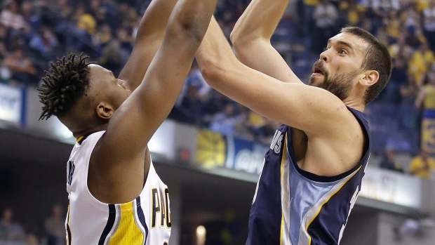 Marc Gasol lead Memphis Grizzlies to get past Indiana Pacers 112-103