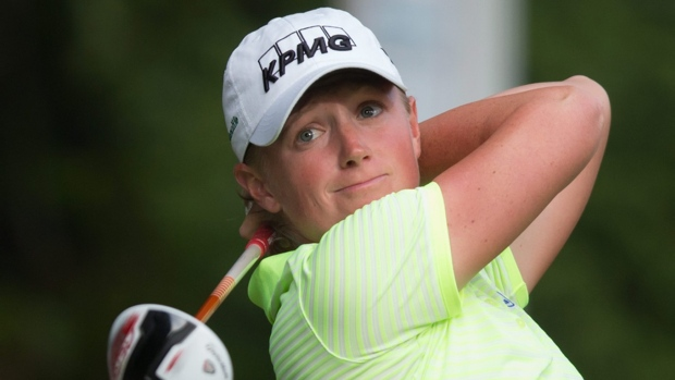 Brittany Lincicome cards ace, leads LPGA Classic