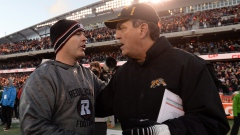 Tiger-Cats head coach Kent Austin Redblacks head coach Rick Campbell