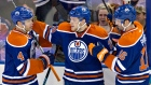 Hall, Draisaitl, Purcell celebrate