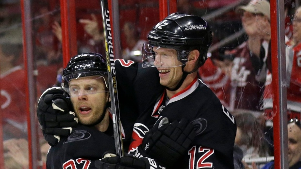 Kris Versteeg and Eric Staal
