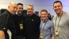 Joe Montana with the TSN 1040 crew