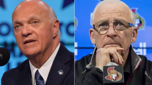Lou Lamoriello and Bryan Murray