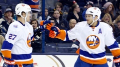 Anders Lee and Kyle Okposo