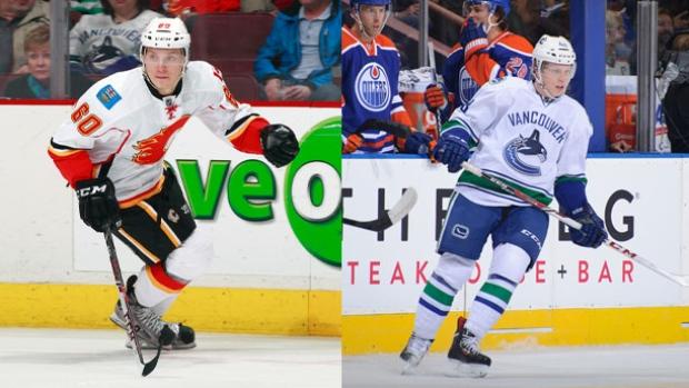 Canucks send Hunter Shinkaruk to Calgary for Markus Granlund