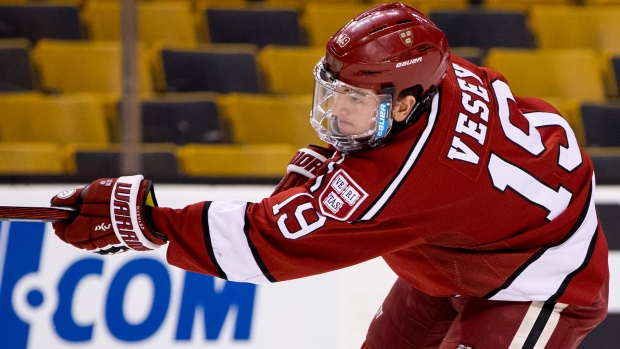 Jimmy Vesey's Rights Acquired By Buffalo