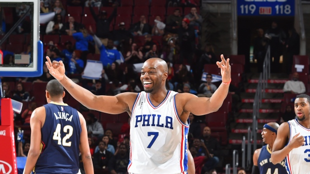 3b2637e6ee1a 76ers first NBA team to land jersey ad. The Canadian Press. Carl Landry