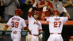 Mike Trout and Angels Celebrate