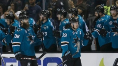 Couture and Burns celebrate