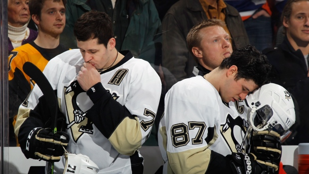 Evgeni Malkin and Sidney Crosby