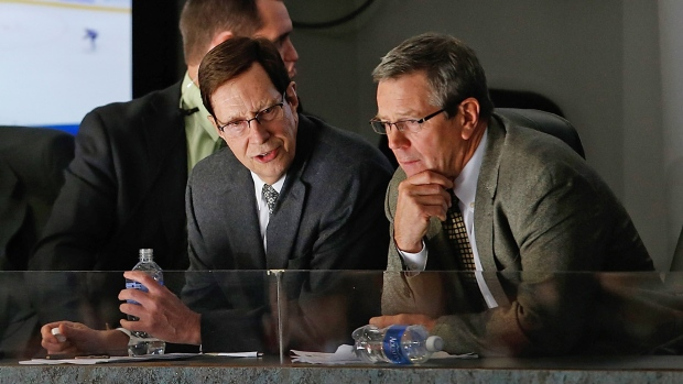 David Poile, left, and Paul Fenton