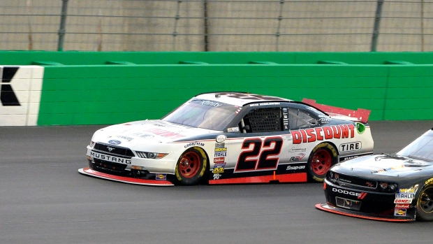 Keselowski wins NASCAR race after almost running out of fuel