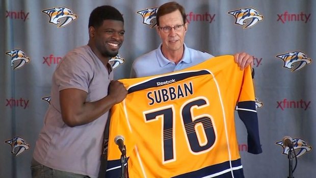 PK Subban and David Poile