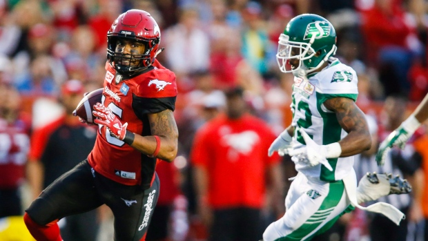 83db4ced2 Stampeders pull away late to beat Roughriders in Durant s return - TSN.ca