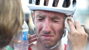 Canadian cyclist Woods makes late charge at Santos Tour Down Under