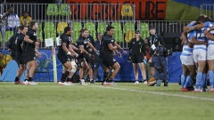 Kiwi Rugby team performs Haka after victory over Argentina article image