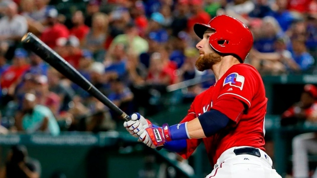 Lucroy homers twice, drives in 5 as Rangers beat Tigers 8-5 Article Image 0