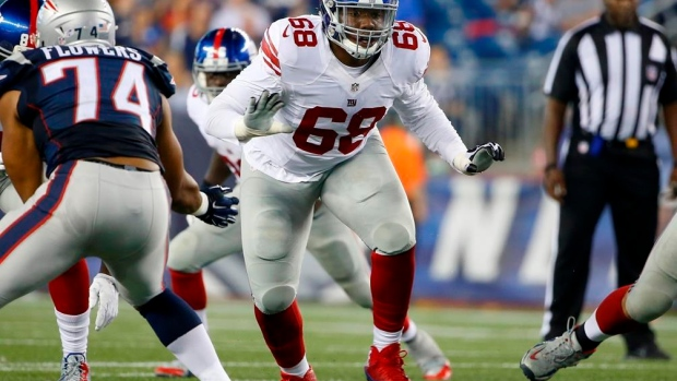 Bobby Hart doesn't see himself as sixth man of Giants O-line Article Image 0
