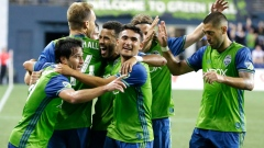 Sounders players celebrate