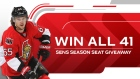 Win All 41 Sens Giveaway 2016