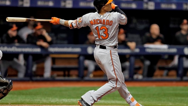 Machado's grand slam helps Orioles beat Rays 11-2 Article Image 0