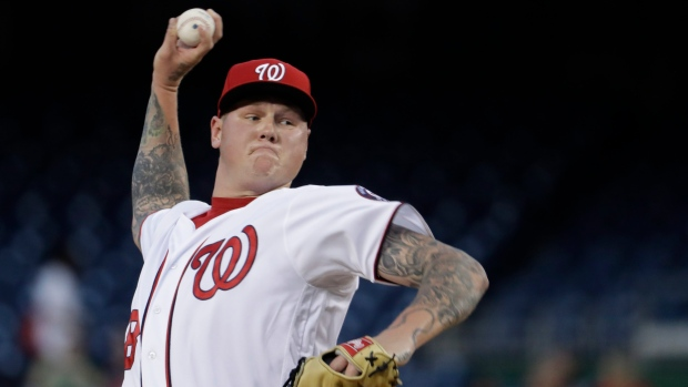 Jays sign P Latos to minor league deal