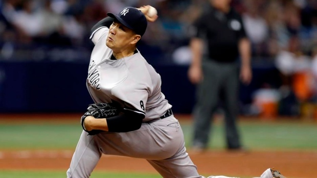 Yankees' Tanaka has forearm strain, will miss his next start