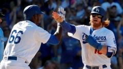 Yasiel Puig and Justin Turner