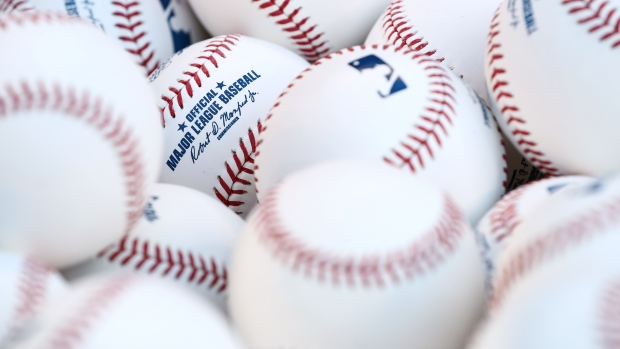Basket of baseballs