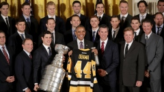 Barack Obama welcomes Penguins to White House