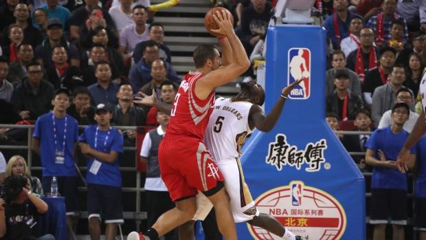 7488c106b26 Rockets sweep Pelicans in China games - TSN.ca