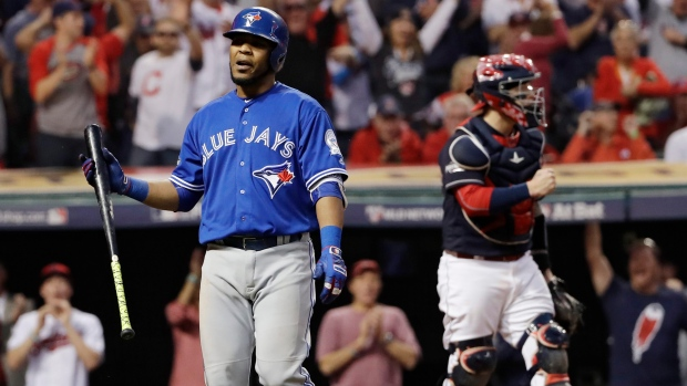 Edwin Encarnacion strikes out