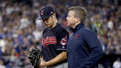 Trevor Bauer leaves mound of Game 3 of ALCS