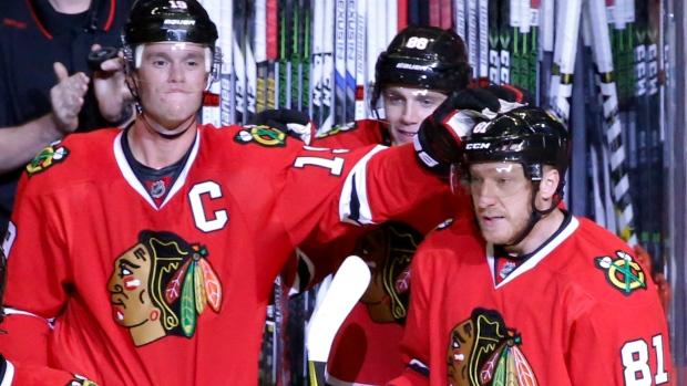 NHL Blonde's blog :: Marian Hossa has bigger female family ... |Marian Hossa Celebration