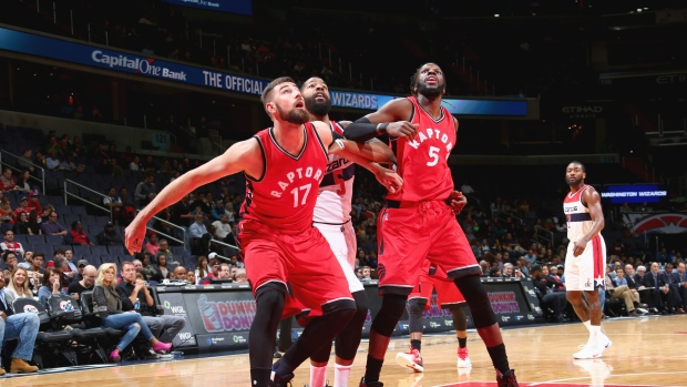 Jonas Valanciunas and DeMarre Carroll