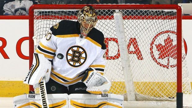Rask practices, could return to ice during Bruins road trip