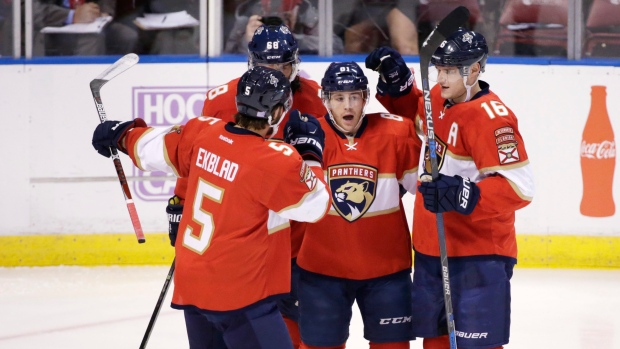 Marchessault, Panthers celebrate