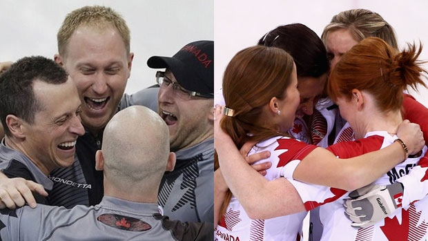 Team Brad Jacobs and Team Jennifer Jones win gold
