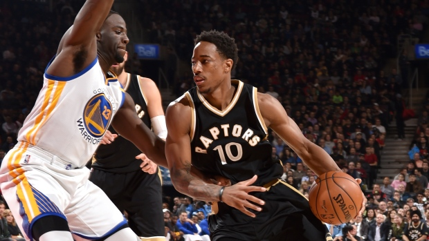 Demar DeRozan and Draymond Green