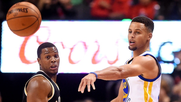 Stephen Curry and Kyle Lowry