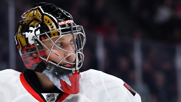 Anderson makes 32 saves, Senators beat Rangers 2-0